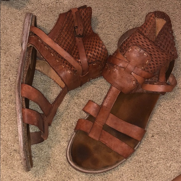 Free People Shoes - Free people brown leather gladiator sandals
